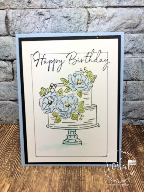 Faux frame around the birthday cake of the Happy Birthday to You stamp set.