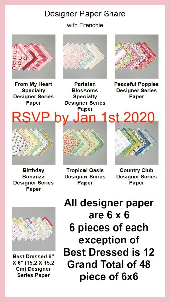 Stampin'Up! Designer paper Share and More.