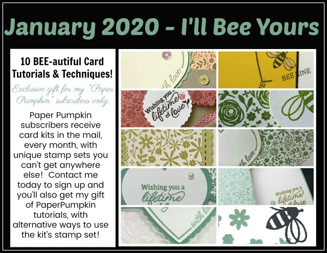 I'll Bee Yours Stampin'Up! Paper pumpkin extra inspiration.