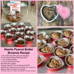 Hearts Peanut Butter Brownies or Fudge Brownies in the Heart Foil Tin by Stampin