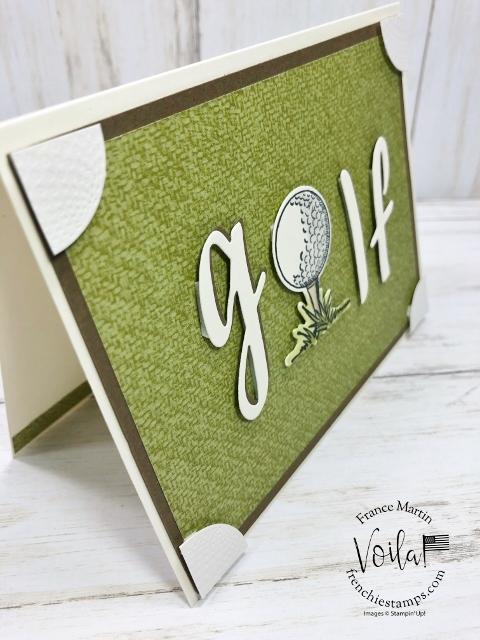 Golf Card with corner pocket