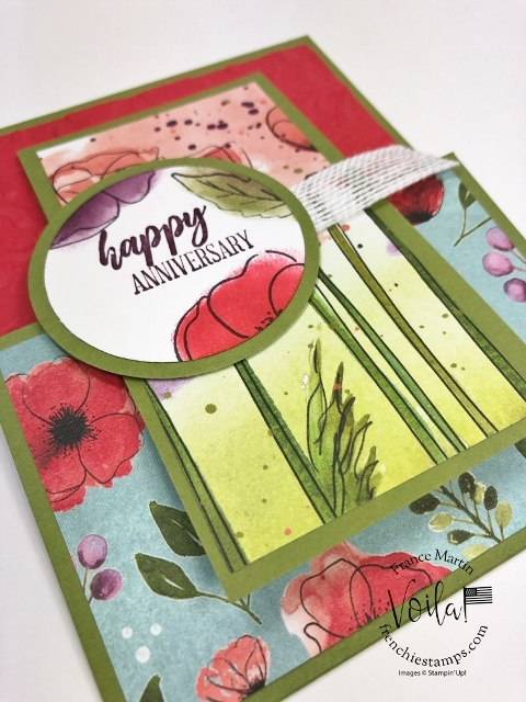 Double Flip card with the Peaceful Poppies Designer paper.