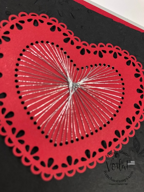 String Art with Stampin'Up! Heart Doilies.
