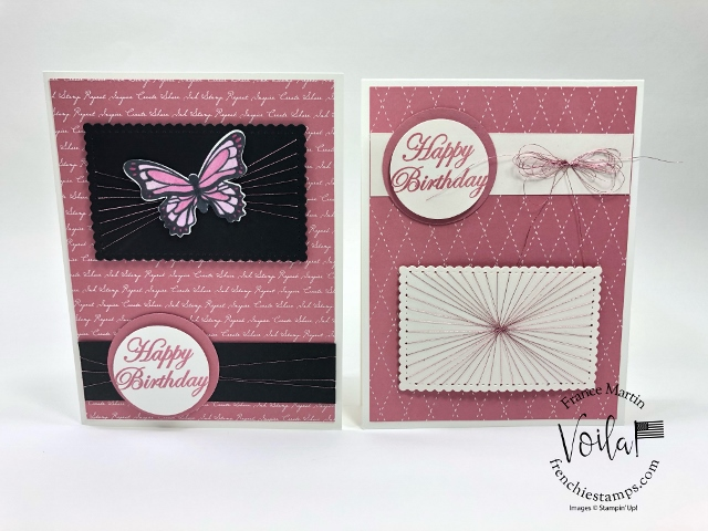 String Art with Stampin'Up! Stitched Dies.