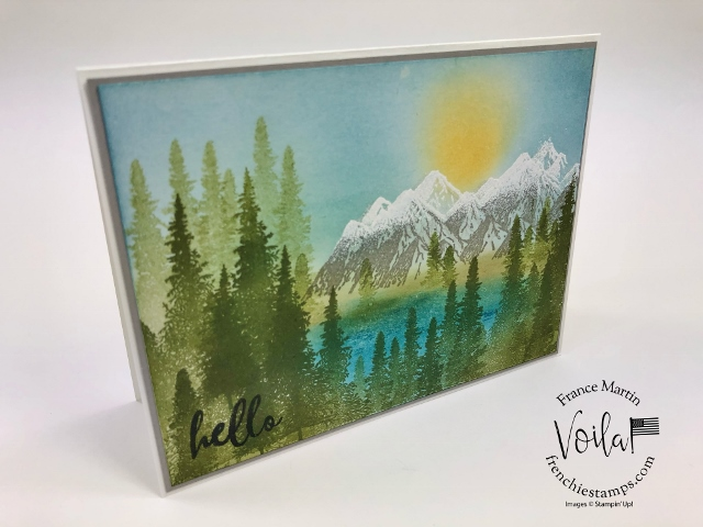 How to make the snow peak on the Mountain Air stamp set