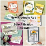2nd release of products for Sale a Bration rewards. Two paper the Flowering Foils and So Very Vellum Designer paper. 3 Stamp sets, Rise & Shine, Well Dressed and Tags In Bloom.