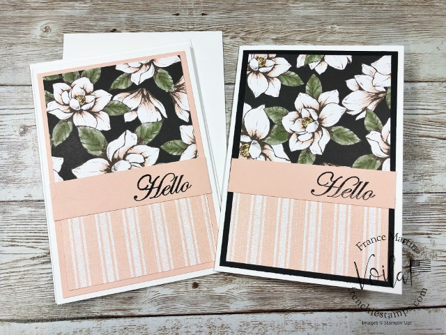 Quick and simple note cards with Magnolia Lane Bulk designer paper.