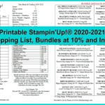 Shopping List and Bundle List for the 2020-2021 Stampin