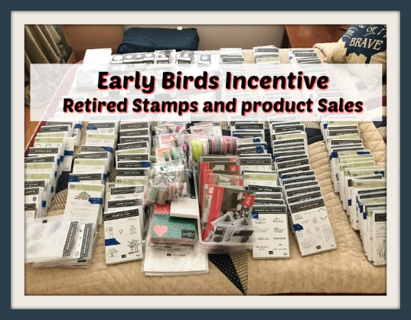 Frenchie' Retired Stamps and retired Product. Early Birds Incentive.