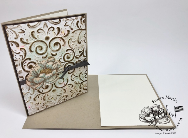 How to Emboss Toilet Paper for a deep imprint plus it is amazing look. The folder is the Parisian Flourish 3D embossing folder.