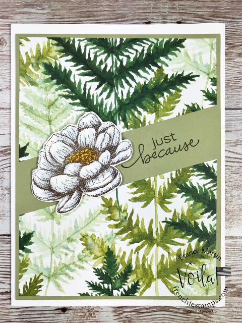 Economize the Forever Greenery Designer Paper with a faux illusion.