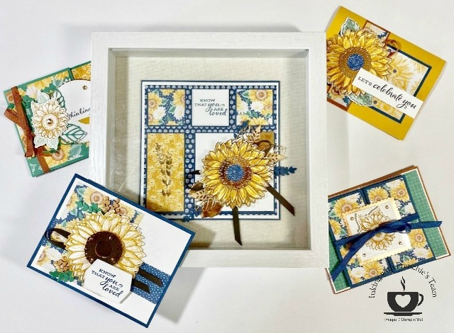 Frenchie's Customer Appreciation for the month of July. Feature stamp set Celebrate Sunflowers