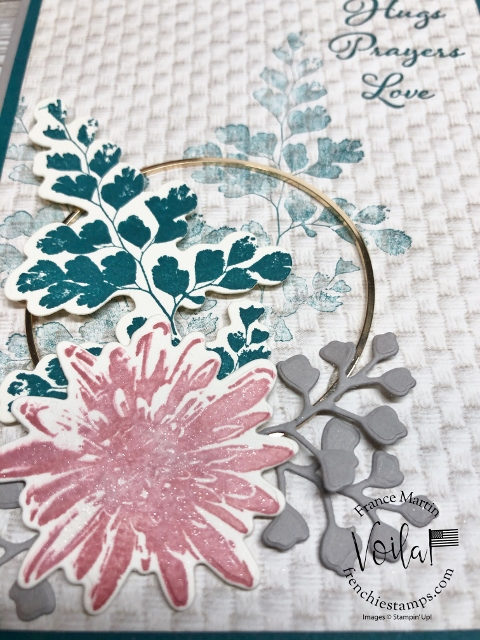How to add the Gold Hoops Embellishments on to a greeting card.