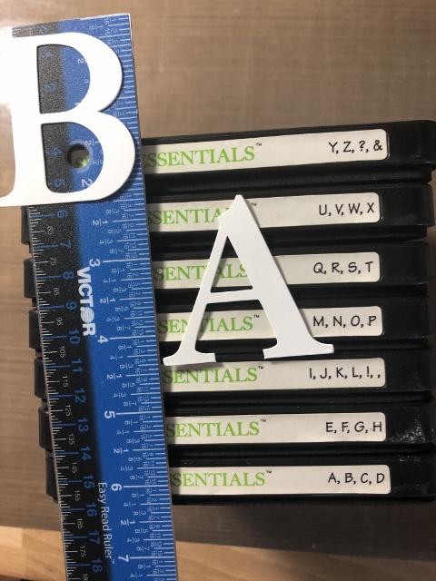 Serif Essentials Alphabet set of 7 dies.