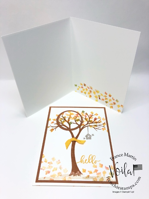Life is Beautiful fall card, baby wipe and spotlight technique.