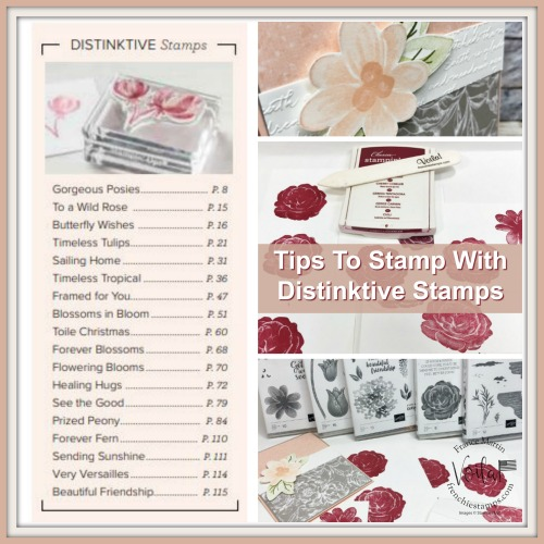 Tips to stamps with Distinktive Stamp Sets.