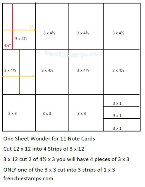 One Sheet Wonder for 11 Note Cards.