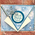 Arrow Fold Card with Snowflake Splendor Designer Paper.