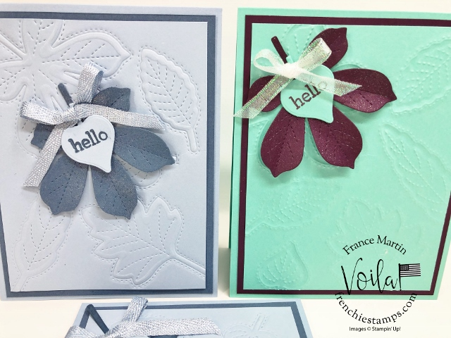How to emboss with the stitched Leaves Dies.