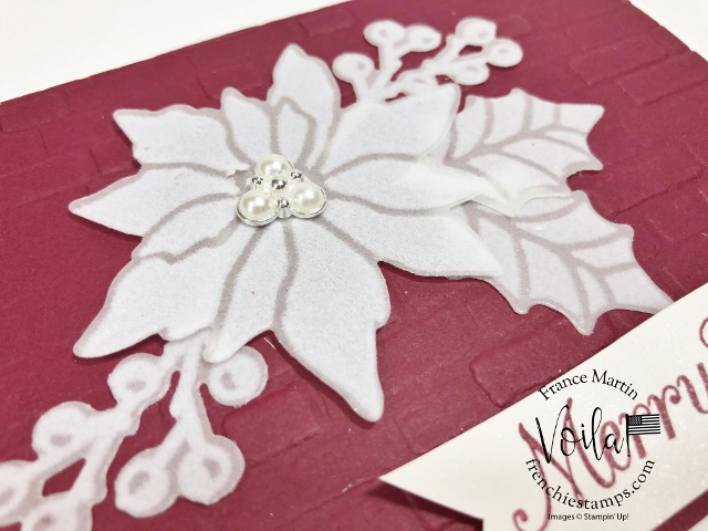 Plush Poinsettia Paper with and without colors.