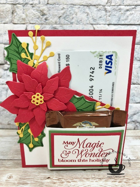 Gift Card and Chocolate holder on a card.