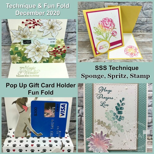 Fun Fold Pop Up Gift Card and SSS Technique.