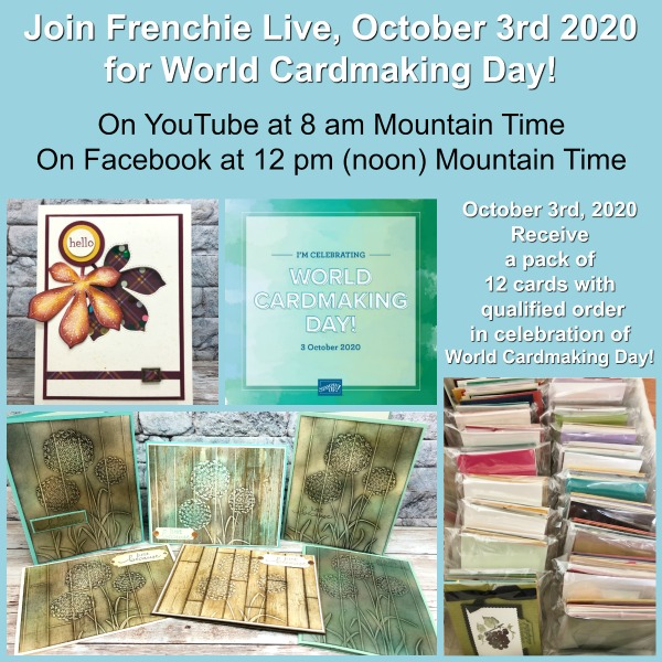 Don't Miss Out World Card Making Day Live with Frenchie