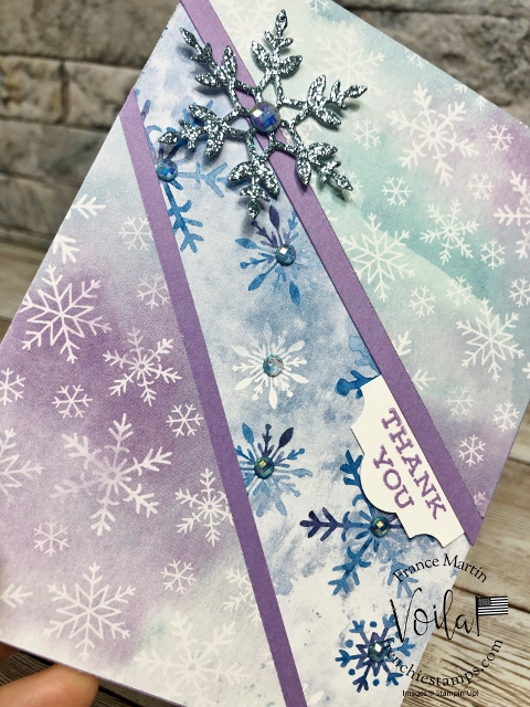 One Sheet Wonder with Snowflakes Splendor live class