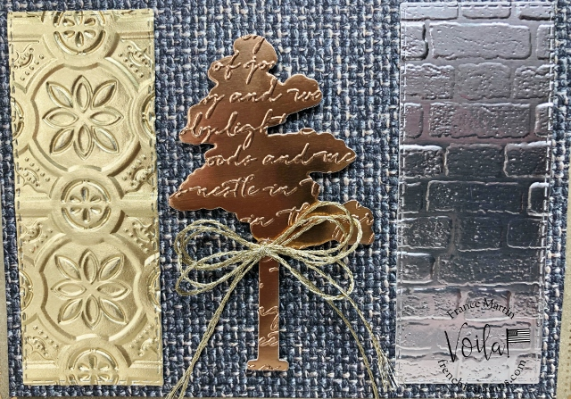 Embossing Metallic Paper with 3D Embossing folder.