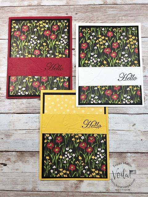 One Sheet Wonder with Flower & Field Designer Paper Simple 10 cards.
