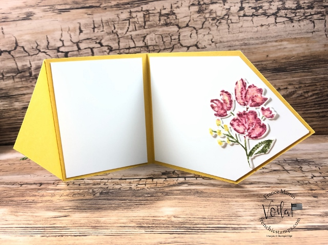 Diamond Flip Card, stamp set Art Gallery.