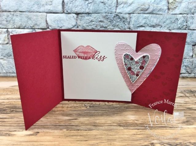 Heart Flap Fold Card.