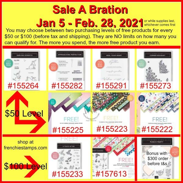 Sale A Bration rewards. Jan- 5th to Feb. 28, 2021.