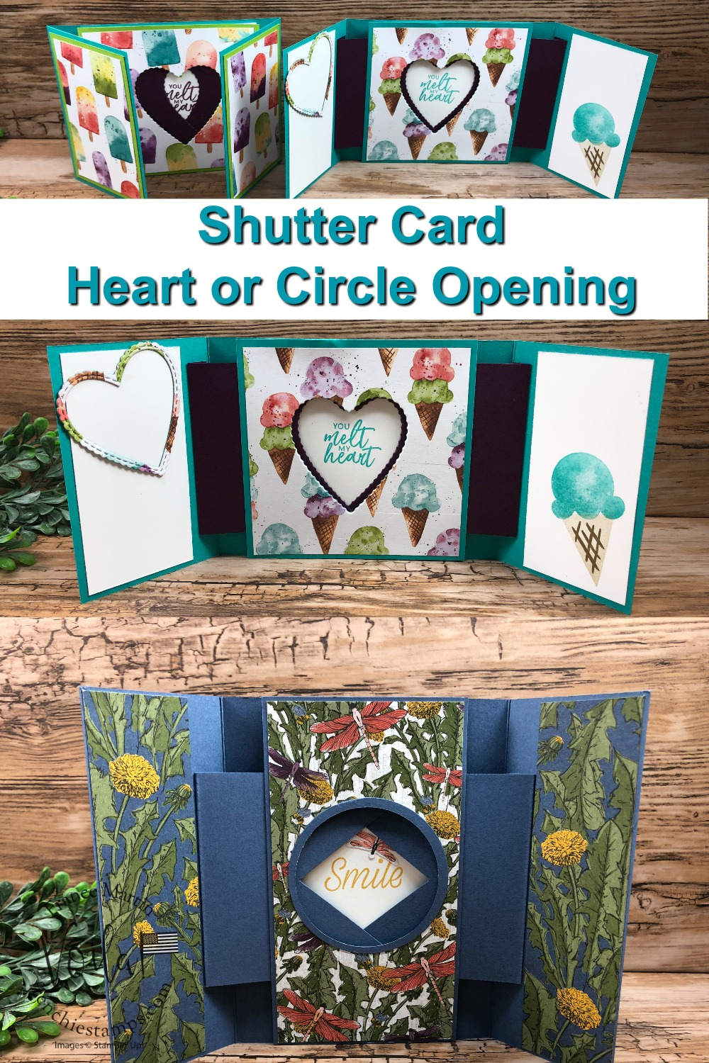 Shutter Card Heart and Circle Opening