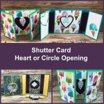 Shutter card with Heart and Circle opening.