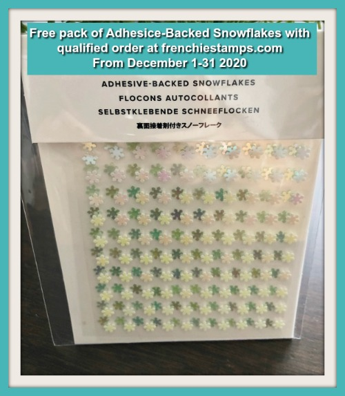 Get a free pack of Adhesive-Backed Snowflakes