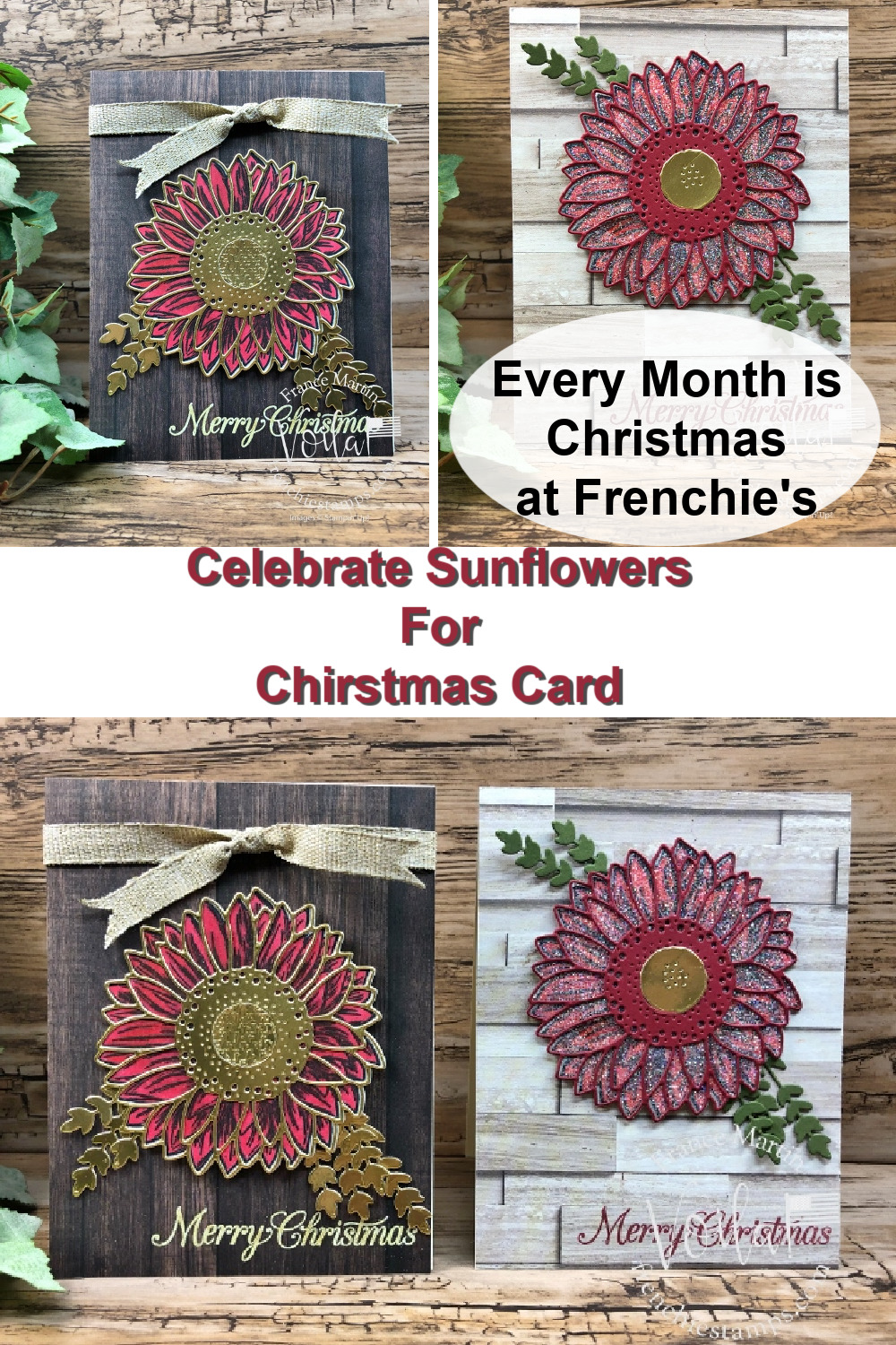 Celebrate Sunflowers For Christmas Card