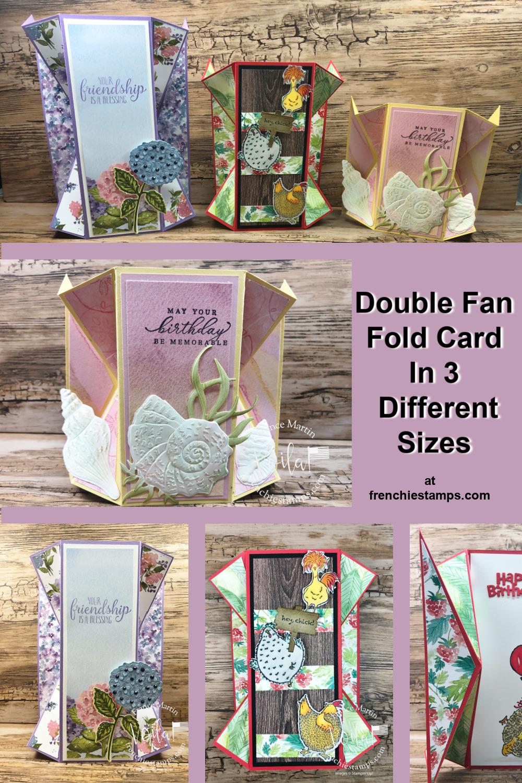 Double Fan Fold in 3 Different Sizes