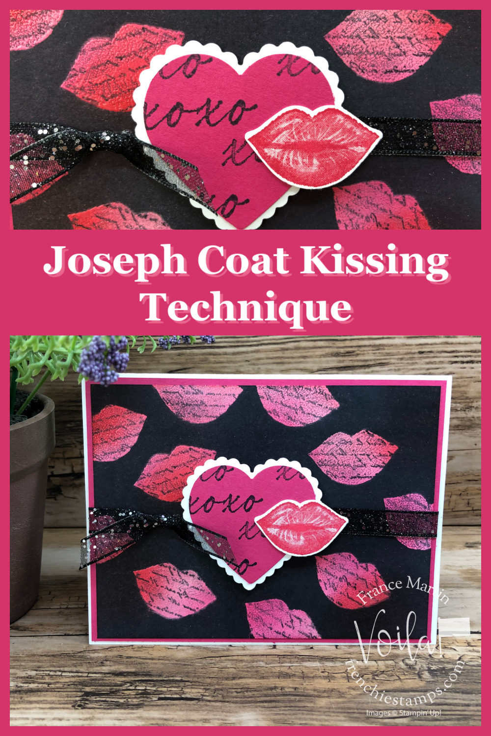 Joseph Coat Kissing Technique with Hearts and Kisses Stamp Set