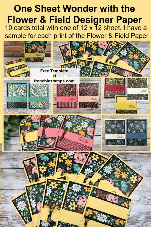 One Sheet Wonder 10 Cards with Flower & Field Designer Paper