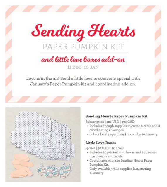 Sending Hearts January Paper Pumpkin add On
