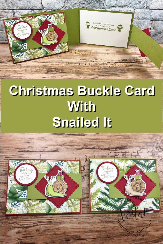 Snail It for Christmas Buckle Card.