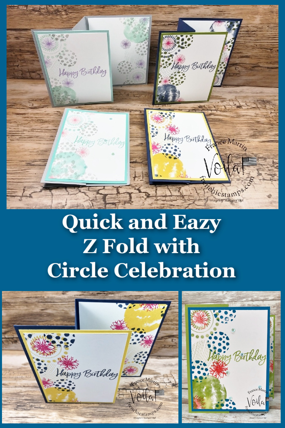 Circle Celebration Quick Z Fold With 5 Color Combos