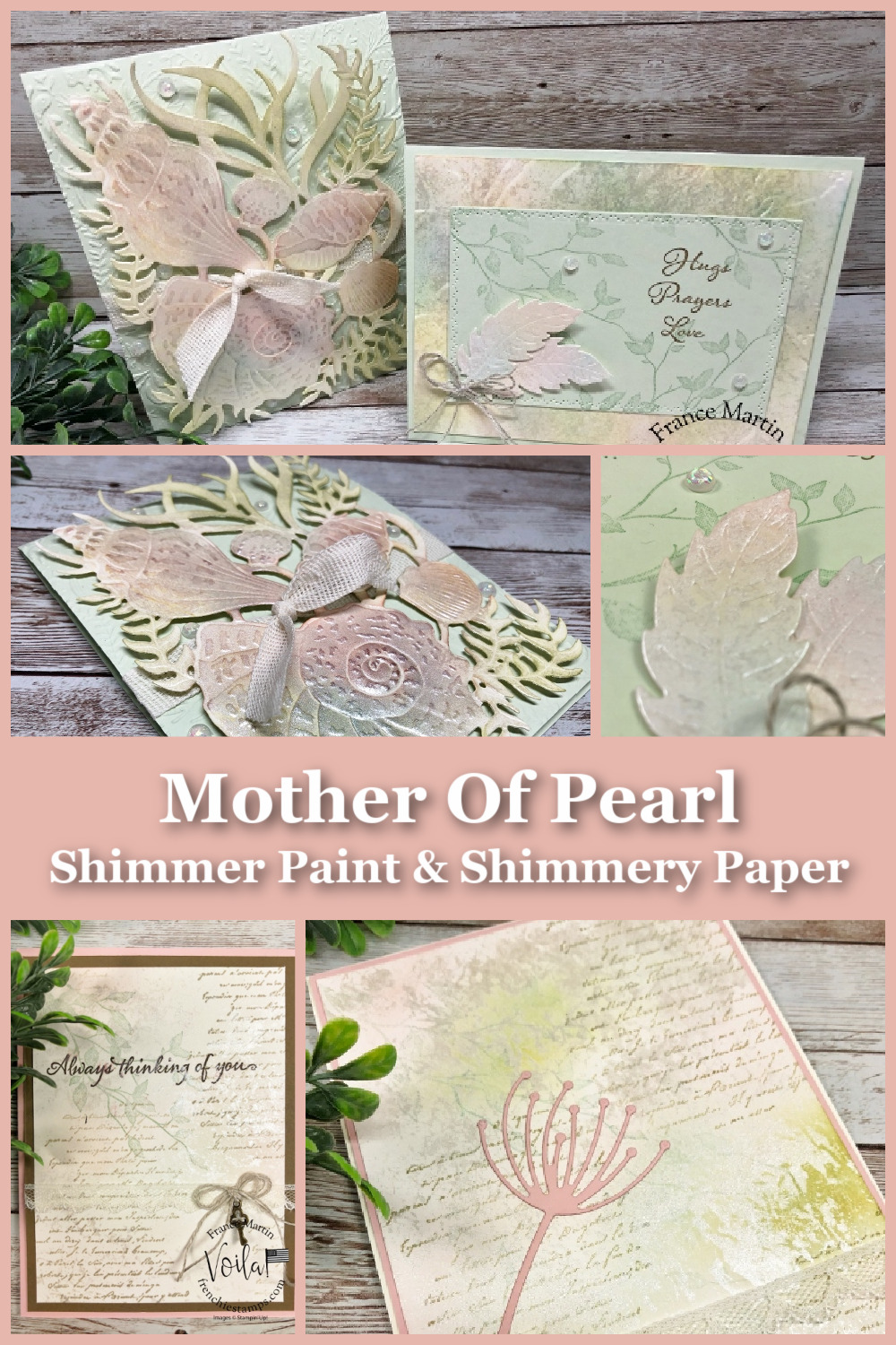 Mother Of Pearl On Shimmery White Cardstock