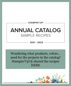 Stampin'Up! 2021 -2022 Catalog All project, sample in the catalog Recipes.