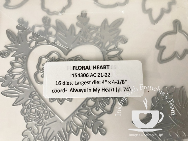 Labels to organize your Stampin'Up! dies from the 2021-2022 annual catalog