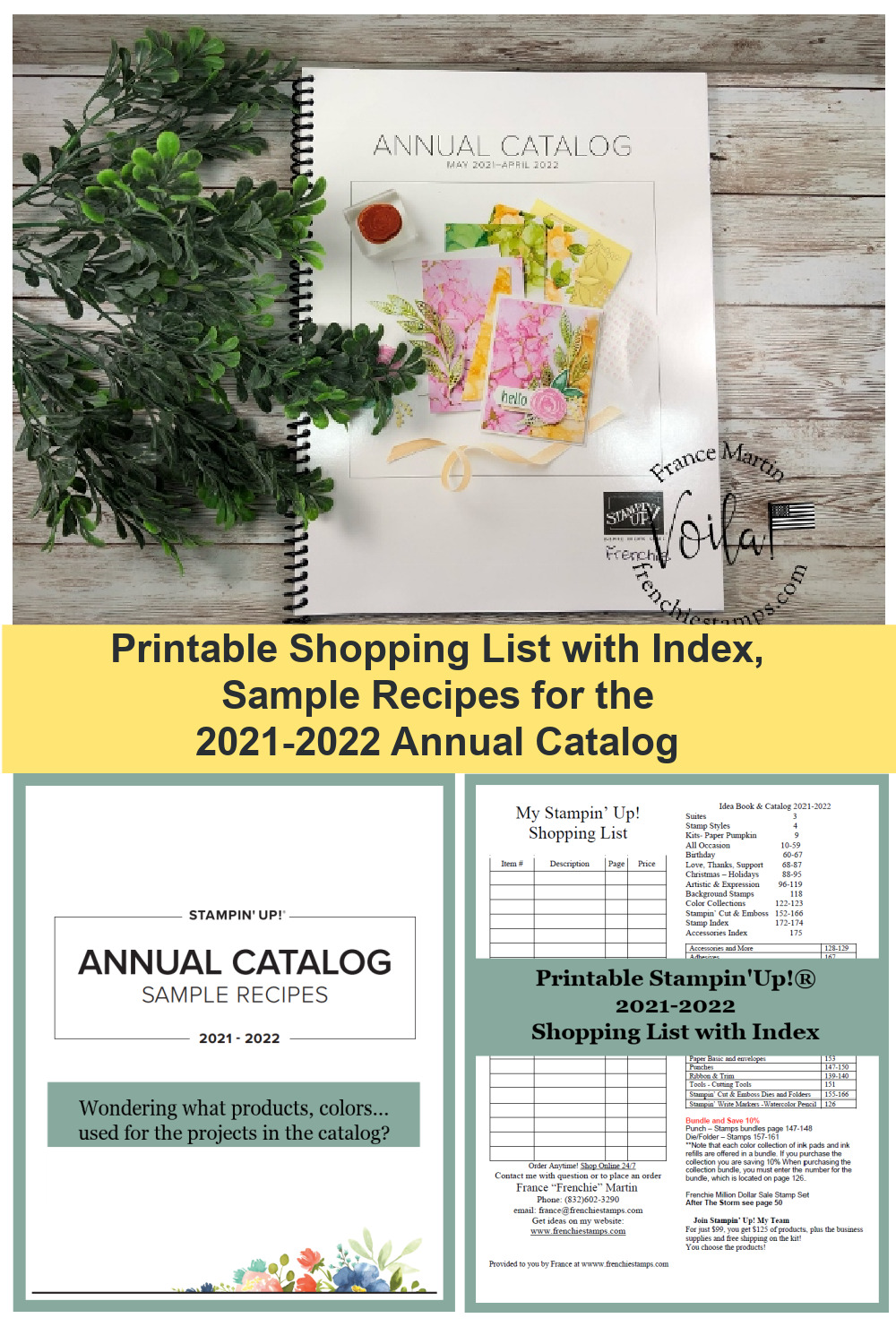 New 2021-2022 Catalog Sample Recipes Available Plus Extra Rewards