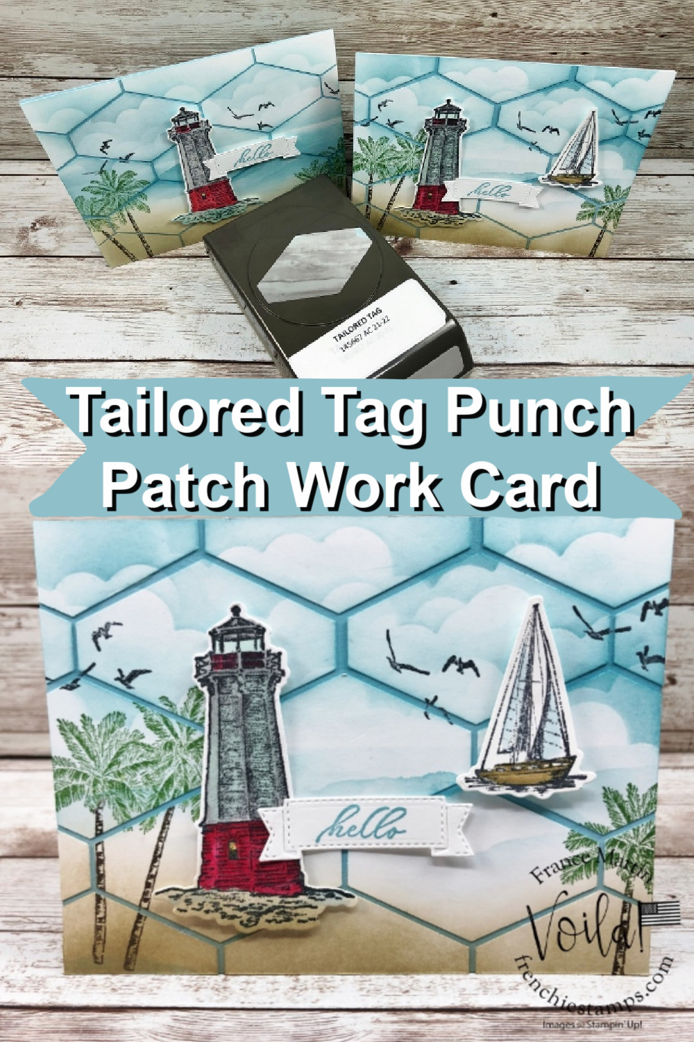 Tailored Tag Punch Ocean Scenery Patchwork Greeting Card