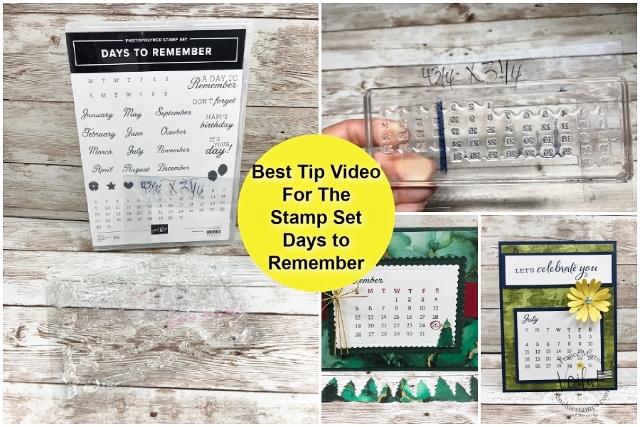 Best Tip Video With Days To Remember Stamp Set.