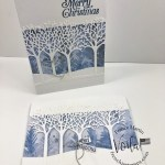 Christmas Card with Inspiring Canopy Dies.